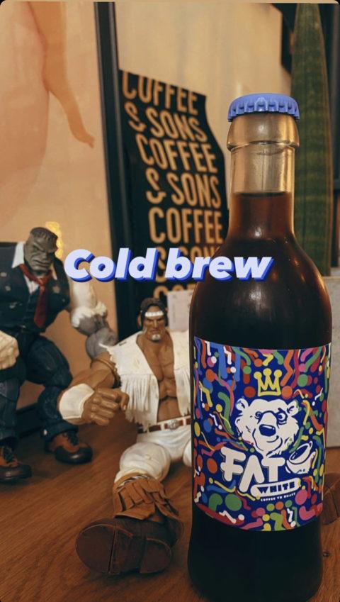 Cold brew naklejka projekt.