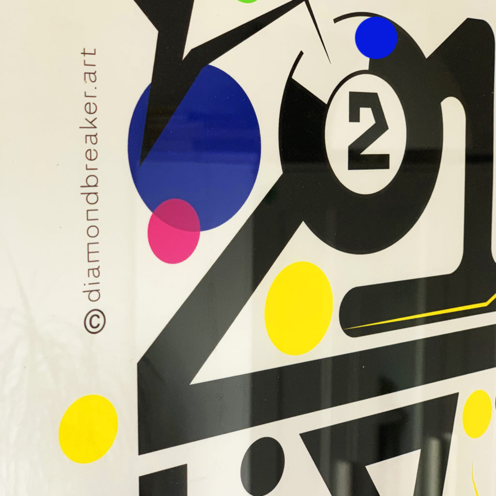 poster typography design by Diamond Breaker